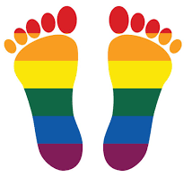 Coming Out Day, piedi arcobaleno